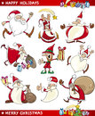 Cartoon Set of Christmas Themes Royalty Free Stock Photo