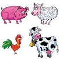 Cartoon set of farm animals Royalty Free Stock Photography