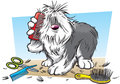 Cartoon shaggy dog Royalty Free Stock Photo