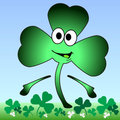Cartoon Shamrock. Royalty Free Stock Photos