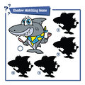 Cartoon shark game Royalty Free Stock Photo