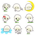 Cartoon sheep Stock Images