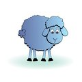 Cartoon sheep vector lamb funny mammal silhouette icon on a white background Royalty Free Stock Photos