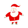 Cartoon shocked santa claus retro with texture isolated on white Stock Photos