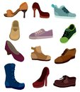 Cartoon shoes icon Stock Photo