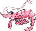 Cartoon Shrimp Royalty Free Stock Photo