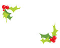Cartoon simple mistletoes decoration ornaments decorative red and green Royalty Free Stock Photos