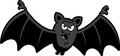 Cartoon sinister bat a illustration of a with a grin Stock Images