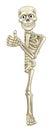 Cartoon Skeleton Thumbs Up Halloween Sign Royalty Free Stock Photo