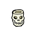 Cartoon skull bowl Stock Photo