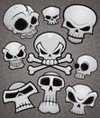 Cartoon Skull Collection Stock Photography