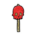 Cartoon skull sign post Royalty Free Stock Image