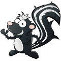 Cartoon skunk Royalty Free Stock Images