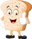 Cartoon slice of bread giving thumbs up Royalty Free Stock Photo