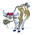 Cartoon smile cow or bull Royalty Free Stock Photo