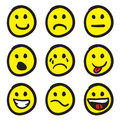 Cartoon Smiley Faces Royalty Free Stock Image
