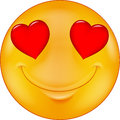Cartoon smiley in love illustration of Royalty Free Stock Photography