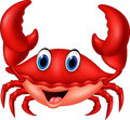 Cartoon smiling crab Royalty Free Stock Photo