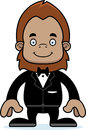 Cartoon smiling groom sasquatch a Royalty Free Stock Photos
