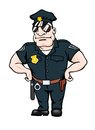 Cartoon smiling policeman Royalty Free Stock Images