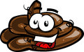 Cartoon smiling poop pile a vector illustrated Royalty Free Stock Image