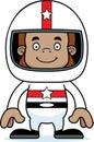 Cartoon smiling race car driver sasquatch a Stock Photography