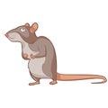 Cartoon smiling Rat Royalty Free Stock Photo