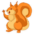 Cartoon smiling Squirrel Royalty Free Stock Photo