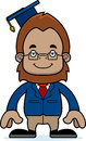 Cartoon smiling teacher sasquatch a Royalty Free Stock Photos