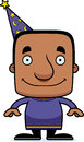 Cartoon smiling wizard man a Royalty Free Stock Images