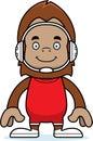 Cartoon smiling wrestler sasquatch a Royalty Free Stock Photos