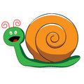 Cartoon snail a cute with a surprised expression Stock Photography
