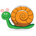 Cartoon snail a cute on a white background Royalty Free Stock Photos