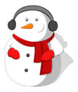 Cartoon snowman christmas vector illustration conceptual drawing art of character Royalty Free Stock Photo