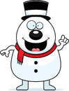 Cartoon snowman idea a illustration of a with an Royalty Free Stock Images