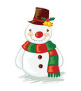 Cartoon snowman vector illustration of a Royalty Free Stock Photos