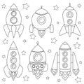 Cartoon spaceship