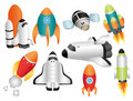 Cartoon spaceship icon Royalty Free Stock Image