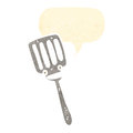 Cartoon spatula Royalty Free Stock Photo