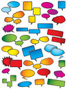 Cartoon speech bubbles Stock Photography