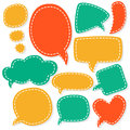 Cartoon speech bubbles different sizes and forms vector illustration Stock Photo