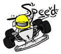 Cartoon speed car Royalty Free Stock Photos