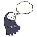 Cartoon spooky ghoul with thought bubble Stock Photography