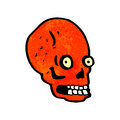 Cartoon spooky staring skull Royalty Free Stock Image
