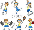Cartoon sport icon vector Royalty Free Stock Photo