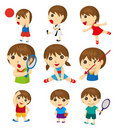 Cartoon sport people Royalty Free Stock Photo