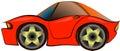Cartoon sportcar Royalty Free Stock Photo