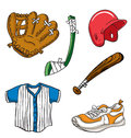Cartoon Sports Equipment Stock Images