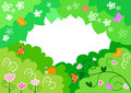 Cartoon spring frame Stock Images