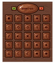 Cartoon square buttons set Royalty Free Stock Photo